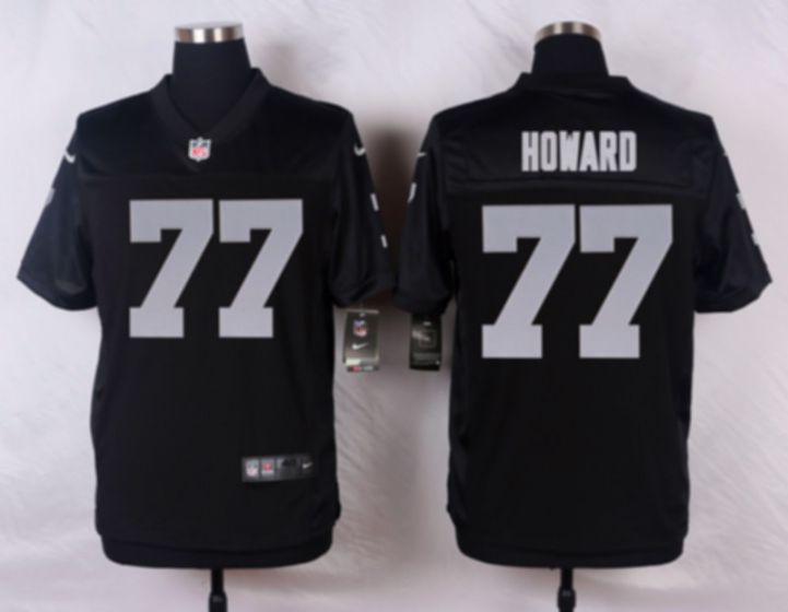 Men Oakland Raiders 77 Austin Howard Black Elite Nike NFL Jerseys