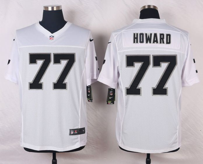 Men Oakland Raiders 77 Austin Howard White Elite Nike NFL Jerseys