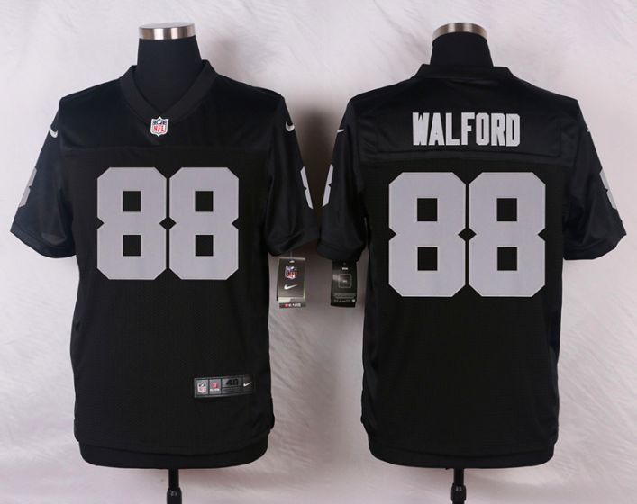 Men Oakland Raiders 88 Clive Walford Black Elite Nike NFL Jerseys