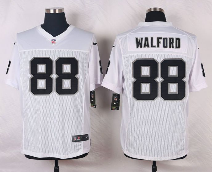 Men Oakland Raiders 88 Clive Walford White Elite Nike NFL Jerseys