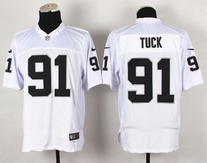Men Oakland Raiders 91 Tuck White Elite Nike NFL Jerseys