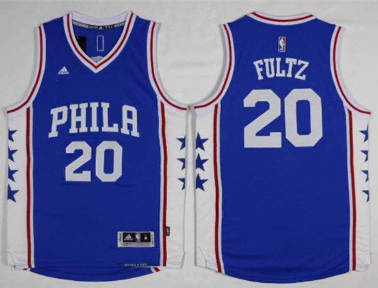 Men Philadelphia 76ers 20 Fultz Blue NBA Jerseys