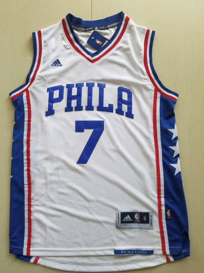 Men Philadelphia 76ers 7 Markelle Fultz White NBA Jerseys