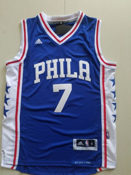 Men Philadelphia 76ers 7 Markelle Fultz Blue NBA Jerseys