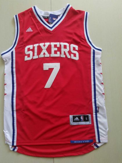 Men Philadelphia 76ers 7 Markelle Fultz Red NBA Jerseys
