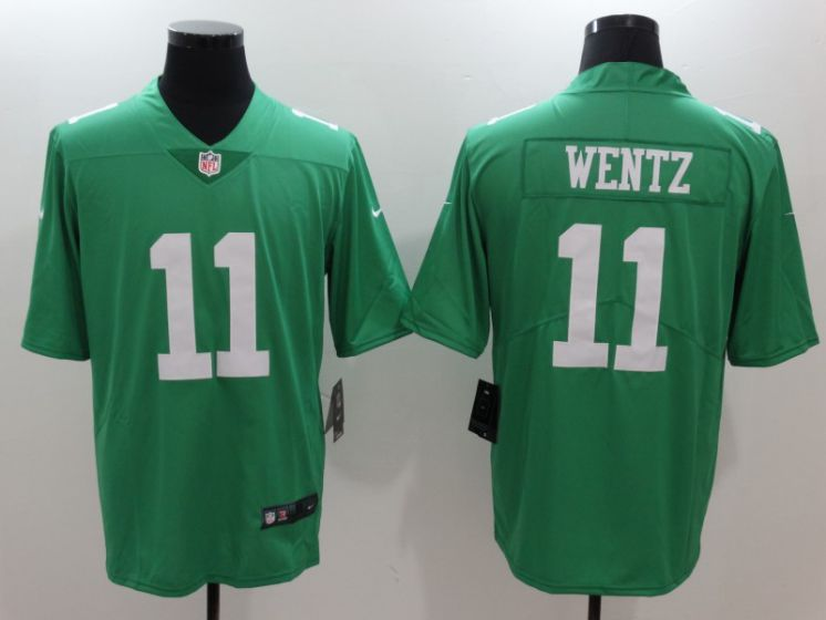 Men Philadelphia Eagles 11 Carson Wentz Green Nike Vapor Untouchable Limited NFL Jerseys