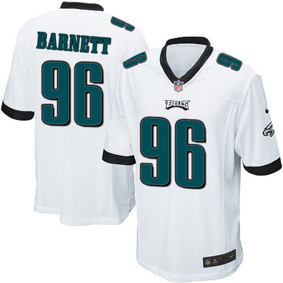 Men Philadelphia Eagles 96 Derek Barnett White Elite Nike NFL Jerseys