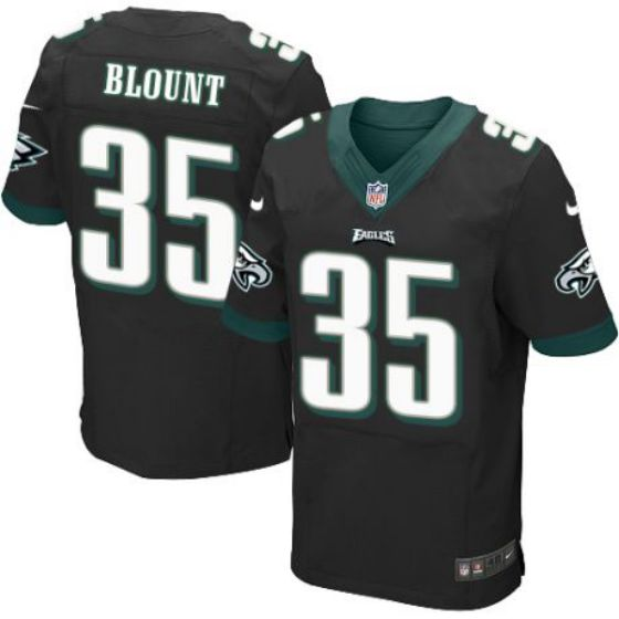 Men Philadelphia Eagles Black 35 LeGarrette Blount Nike Elite NFL Jersey
