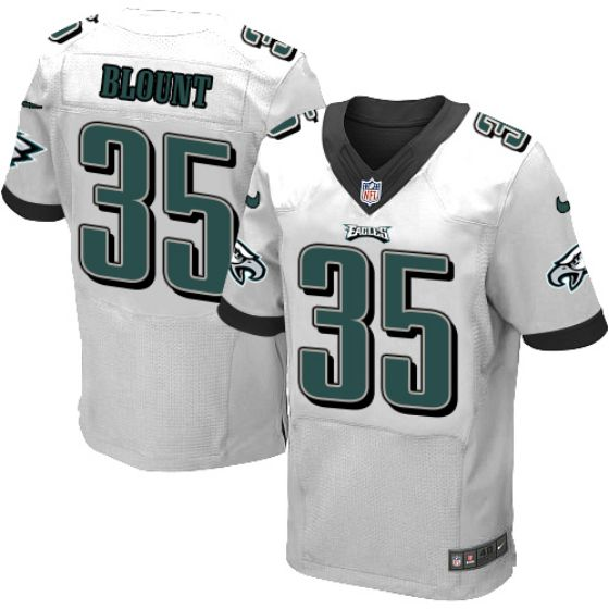 Men Philadelphia Eagles White 35 LeGarrette Blount Nike Elite NFL Jersey