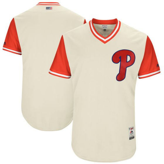 Men Philadelphia Philles Blank Gream New Rush Limited MLB Jerseys