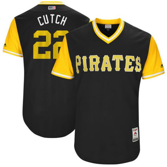 Men Pittsburgh Pirates 22 Cutch Brown New Rush Limited MLB Jerseys