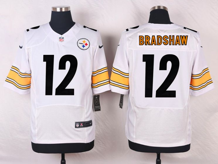 Men Pittsburgh Steelers 12 Terry Bradshaw White Elite Nike NFL Jerseys