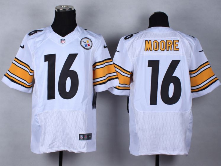 Men Pittsburgh Steelers 16 Lance Moore White Elite Nike NFL Jerseys