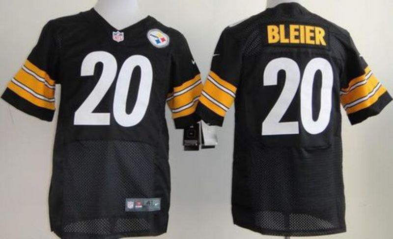 Men Pittsburgh Steelers 20 Bleier Black Elite Nike NFL Jerseys
