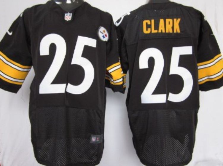 Men Pittsburgh Steelers 25 Ryan Clark Black Elite Nike NFL Jerseys