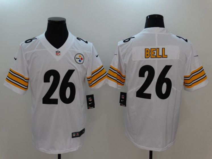 Men Pittsburgh Steelers 26 Bell White Nike Vapor Untouchable Limited NFL Jerseys