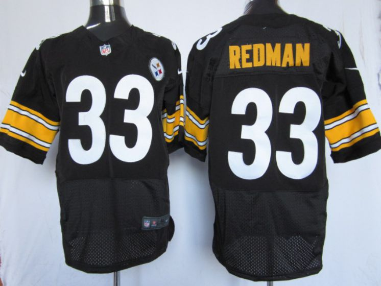 Men Pittsburgh Steelers 33 Redman Black Elite Nike NFL Jerseys