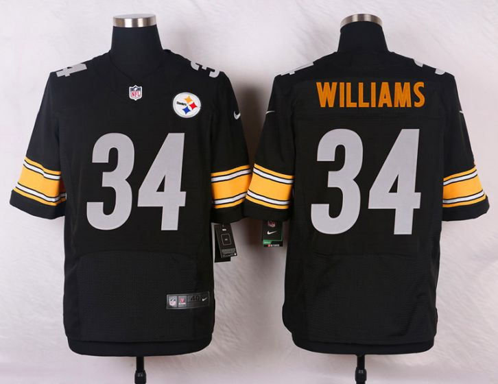 Men Pittsburgh Steelers 34 DeAngelo Williams Black Elite Nike NFL Jerseys