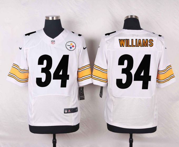 Men Pittsburgh Steelers 34 DeAngelo Williams White Elite Nike NFL Jerseys