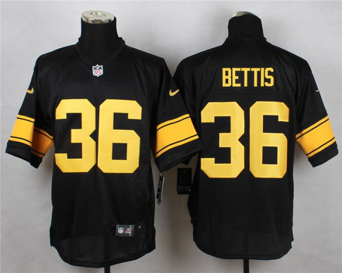 60bbc26fefd ... Limited Jersey Men Pittsburgh Steelers 36 Jerome Bettis Black With  Yellow Elite Nike NFL Jerseys ...