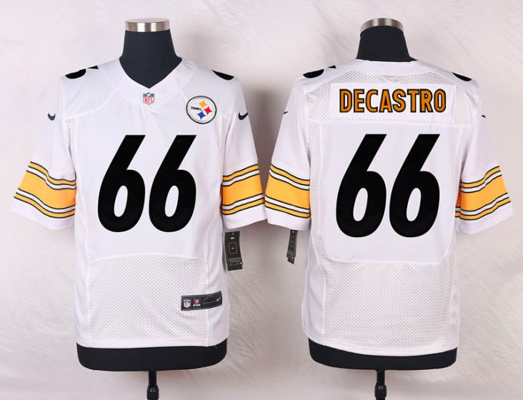 Men Pittsburgh Steelers 66 David DeCastro White Elite Nike NFL Jerseys