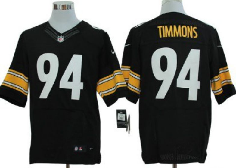 Men Pittsburgh Steelers 94 Lawrence Timmons Black Elite Nike NFL Jerseys