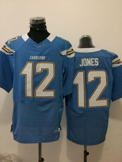 Men San Diego Chargers 12 Felix Jones Light Blue Elite Nike NFL Jerseys