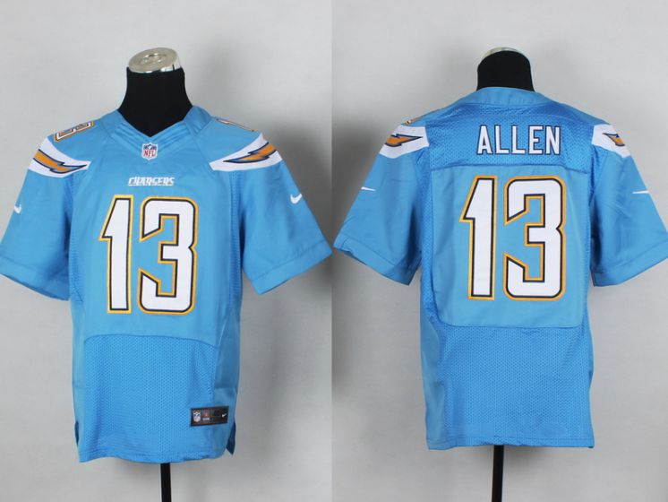 Men Los Angeles Chargers 13 Allen Light Blue Elite Nike NFL Jerseys