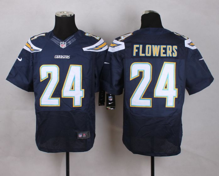 Men San Diego Chargers 24 Brandon Flowers Blue Elite Nike NFL Jerseys