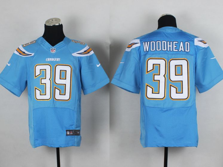 Men San Diego Chargers 39 Woooheao Light Blue Elite Nike NFL Jerseys