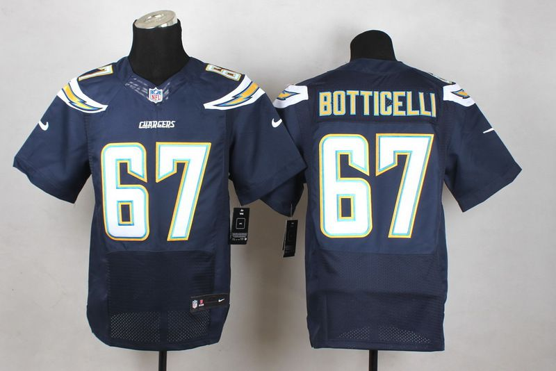 Men San Diego Chargers 67 Cameron Botticelli Blue Elite Nike NFL Jerseys
