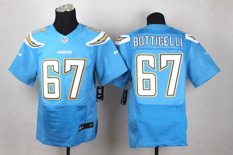 Men San Diego Chargers 67 Cameron Botticelli Light Blue Elite Nike NFL Jerseys