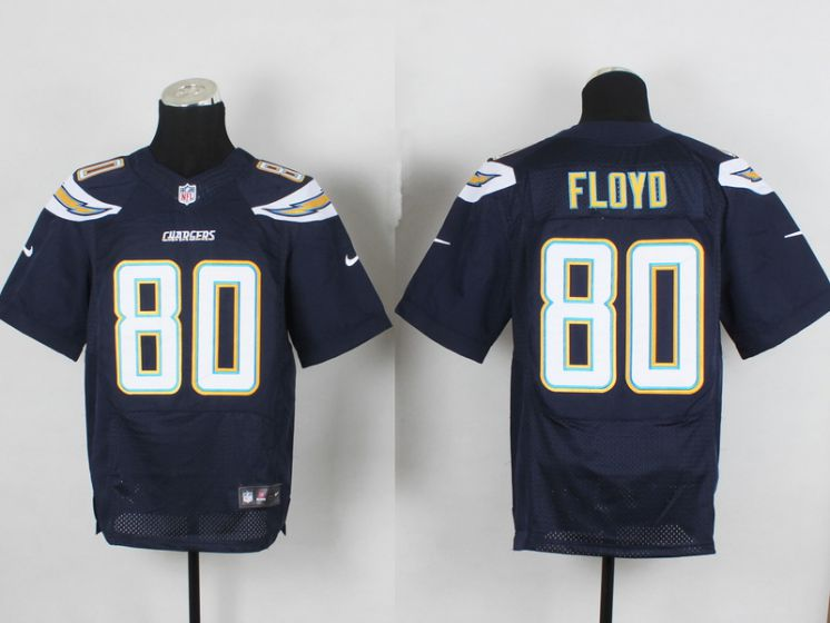Men San Diego Chargers 80 Floyo Blue Elite Nike NFL Jerseys