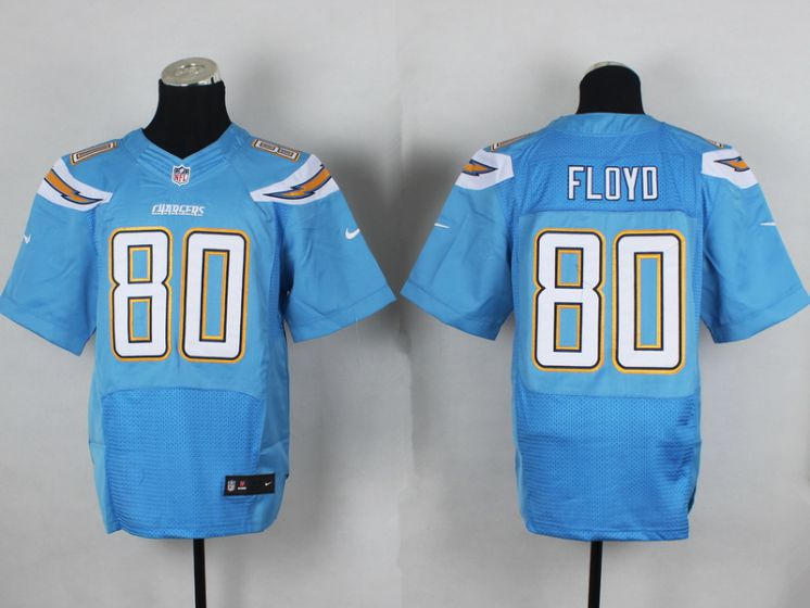 Men San Diego Chargers 80 Floyo Light Blue Elite Nike NFL Jerseys