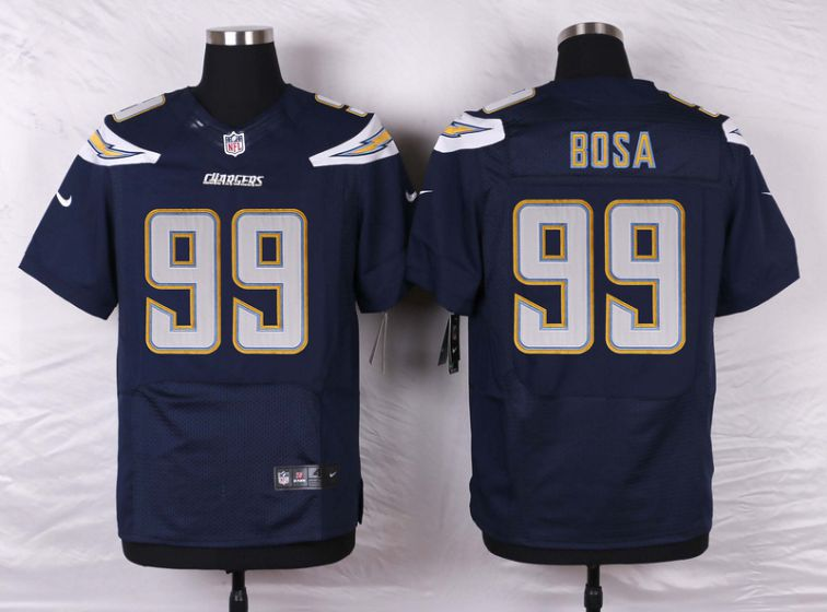 Men Los Angeles Chargers 99 Bosa Blue Elite Nike NFL Jerseys