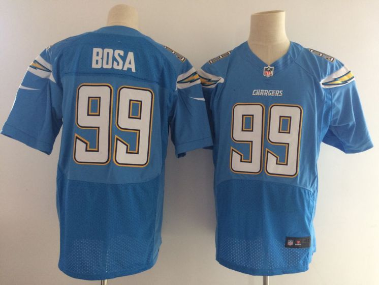 Men San Diego Chargers 99 Bosa light blue elite Nike NFL jersey