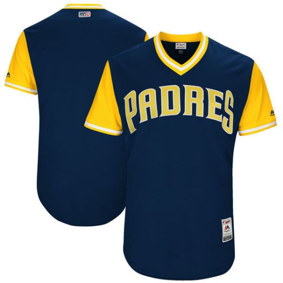 Men San Diego Padres Blank Blue New Rush Limited MLB Jerseys