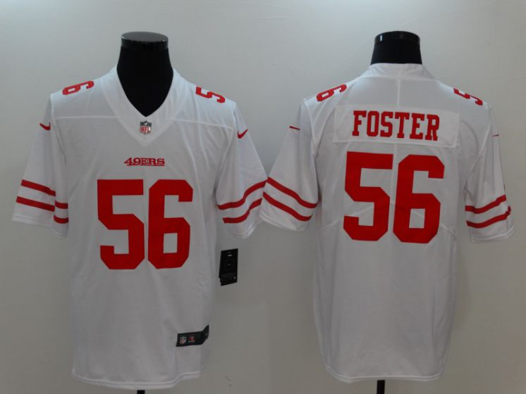 Men San Francisco 49ers 56 Foster White Nike Vapor Untouchable Limited NFL Jerseys