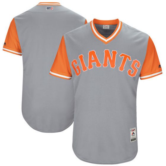 Men San Francisco Giants Blank Grey New Rush Limited MLB Jerseys