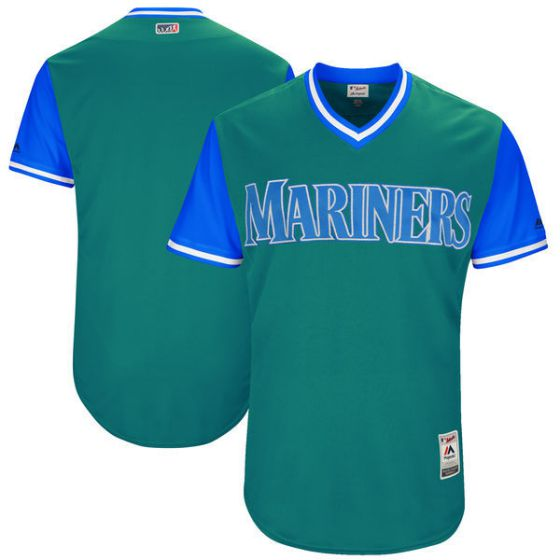 Men Seattle Mariners Blank Green New Rush Limited MLB Jerseys