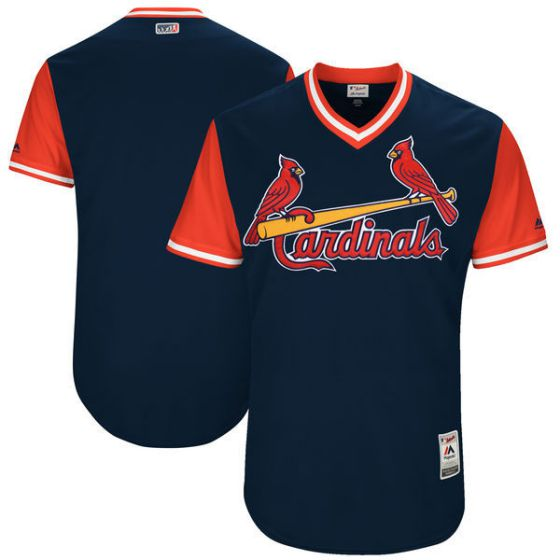Men St Louis Cardinals Blank Blue New Rush Limited MLB Jerseys