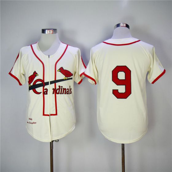 Men St. Louis Cardinals 9 Roger Maris Gream 1946 Throwback MLB Jerseys