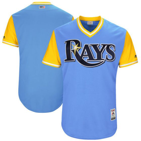 Men Tampa Bay Rays Blank Light Blue New Rush Limited MLB Jerseys