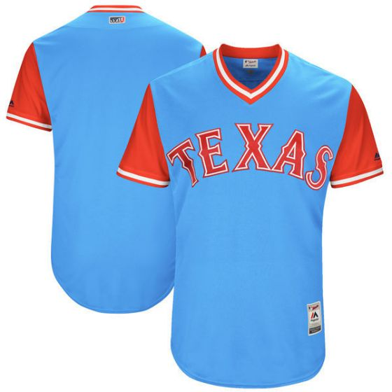 Men Texas Rangers Blank Light Blue New Rush Limited MLB Jerseys