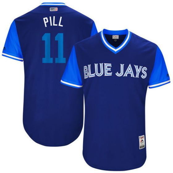 Men Toronto Blue Jays 11 Pill Blue New Rush Limited MLB Jerseys