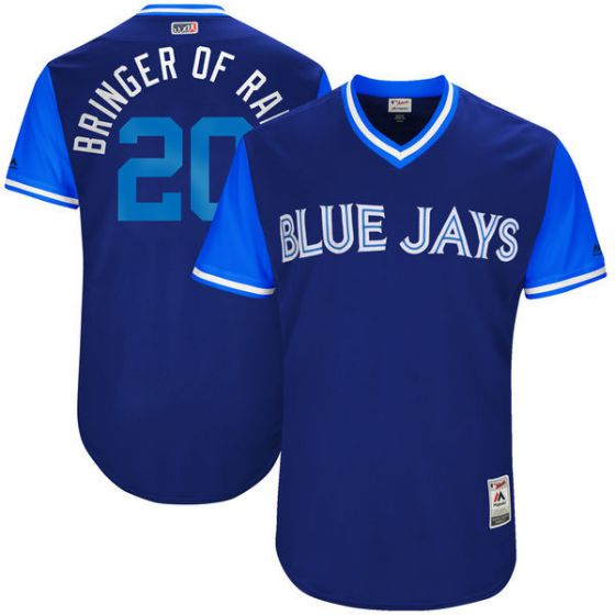 Men Toronto Blue Jays 20 Bringer of Ran Blue New Rush Limited MLB Jerseys