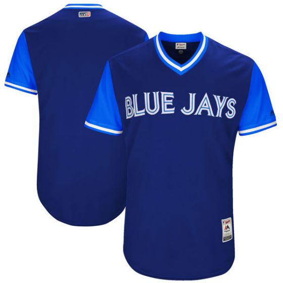 Men Toronto Blue Jays Blank Blue New Rush Limited MLB Jerseys