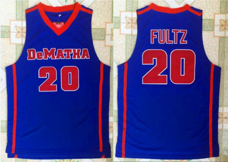 Men University of Dematha 20 Fultz Blue NBA NCAA Jerseys