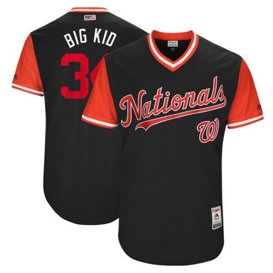 Men Washington Nationals 34 Big kid Brown New Rush Limited MLB Jerseys
