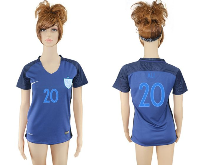 National 2017-2018 England away aaa verion women 20 ali soccer jersey